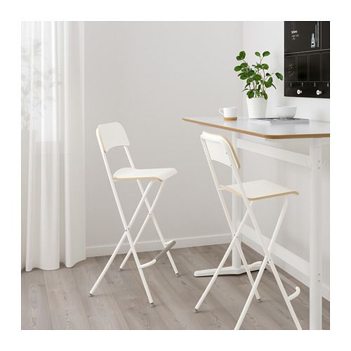 Cool Ikea Franklin White White Bar Stool With Backrest Foldable Bralicious Painted Fabric Chair Ideas Braliciousco