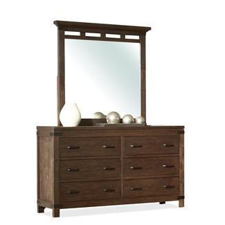 Promenade Six Drawer Dresser and Mirror I Riverside Furniture