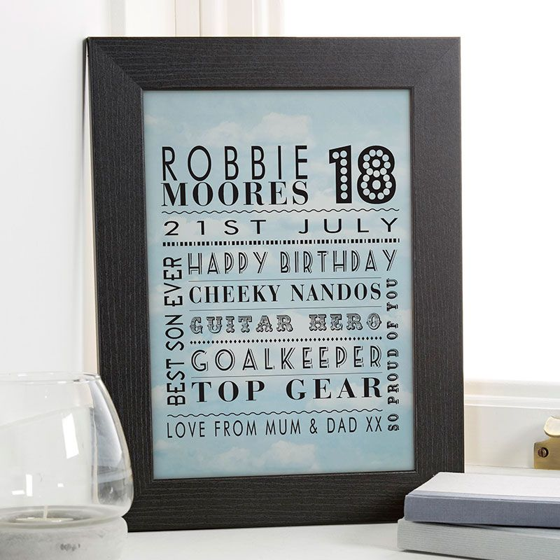 18th birthday gift ideas for boys chatterbox walls