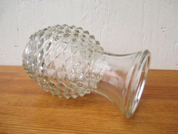 Pineapple Cut Vase Vintage Flower Vase Crystal Diamond Cut Ftd