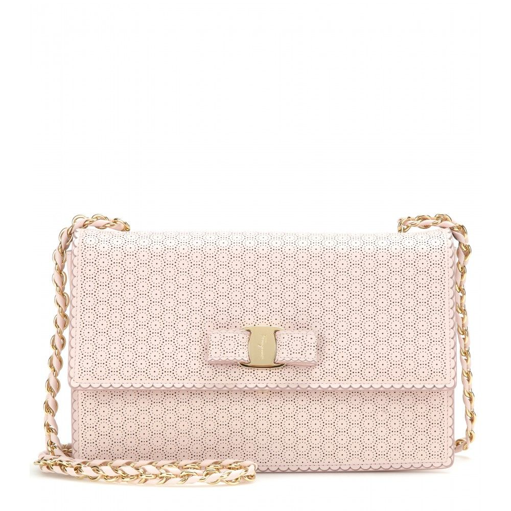 fdfd9ca9eed Salvatore Ferragamo - Ginny leather shoulder bag - Go girly this season and  opt for dainty