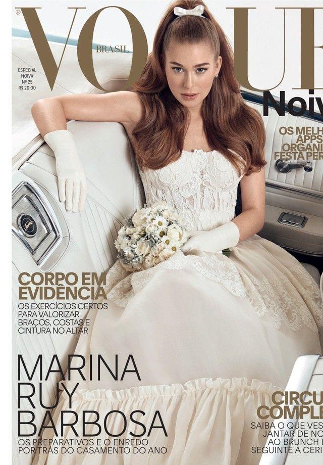 b164e1430 Capa da Vogue Noiva com Marina Ruy Barbosa (Foto: Vogue)   casamento ...