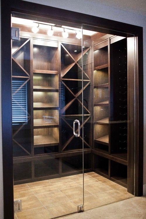 All Glass Door Home Wine Cellars Contemporary Wine Cellar