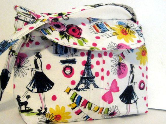 Paris BagBags and by LittleLemonBagCo on Etsy