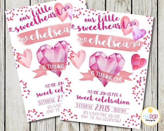 Valentine birthday invitation our little sweetheart party valentine birthday invitation our little sweetheart party invitation heart birthday invitation first birthday filmwisefo