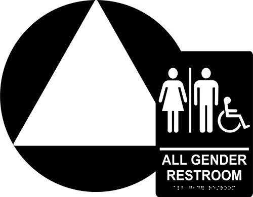All Gender Restroom Sign Set Ada Compliant Title 24 Set Wall Door Sign Braille Grade Ii Californian Title All Gender Restroom Wall Signs Restroom Sign