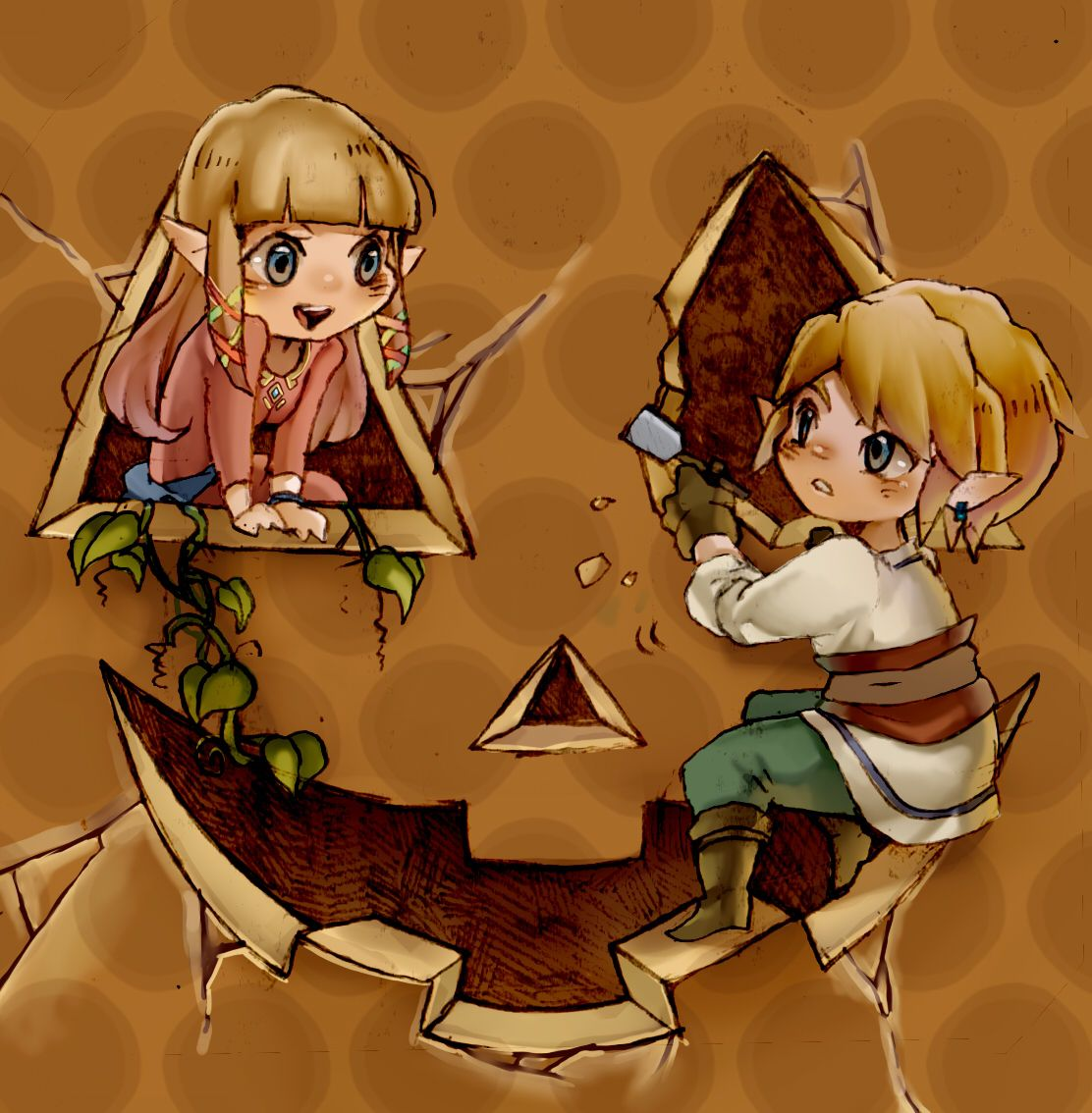 Pumpkin carving with link and zelda navi pinterest juegos