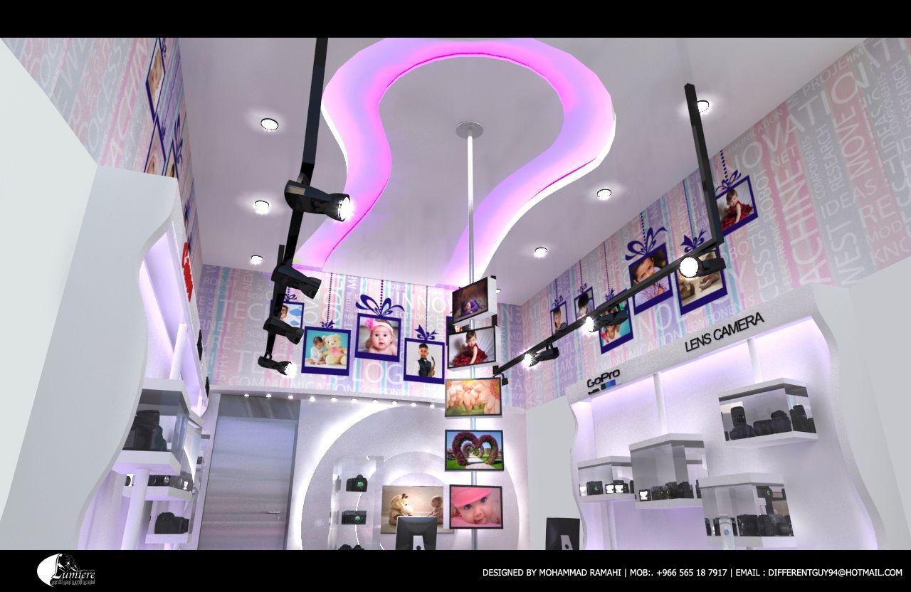 تصميم ديكور محل استيديو تصوير Store Design Interior Creative Interior Design Store Design