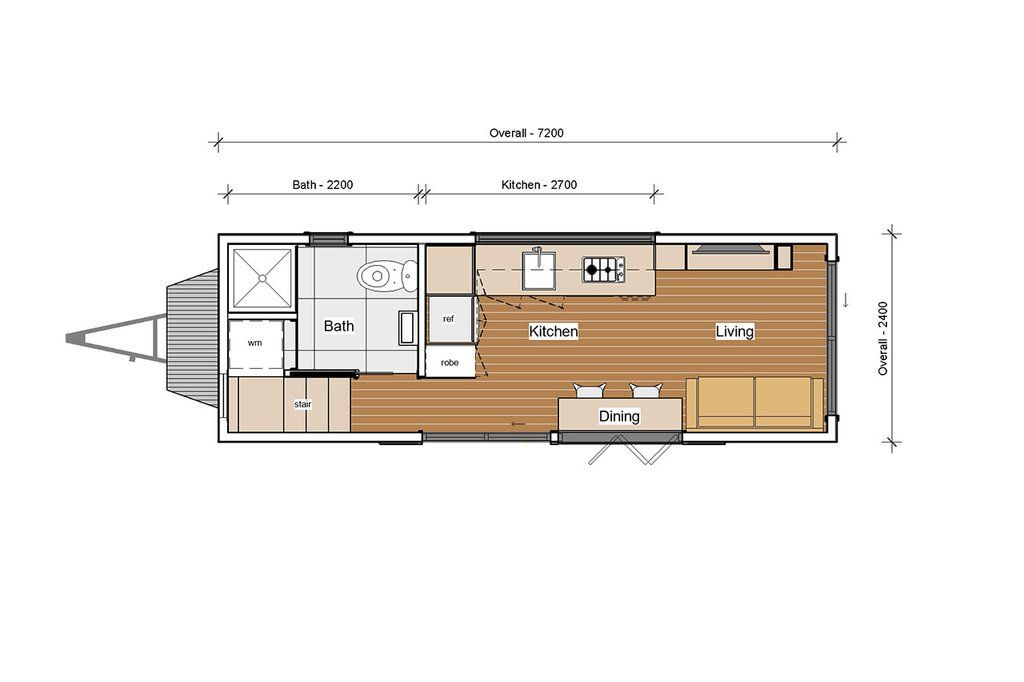 7 2m Mooloolaba Tiny Home On Wheels By Aussie Tiny Houses Tiny House Design Tiny Houses Plans With Loft Small Tiny House