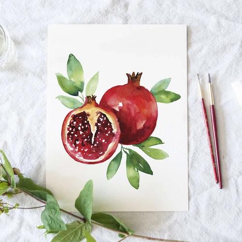 Pomegranate Watercolor Kit