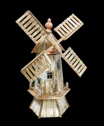 Folk Art Windmill Vintage Garden Ornament original paint gloriously weathered....