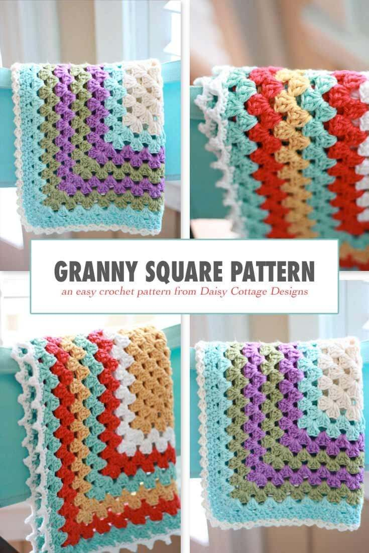 Granny Square Pattern A Free Crochet Pattern Crochet Granny Squares