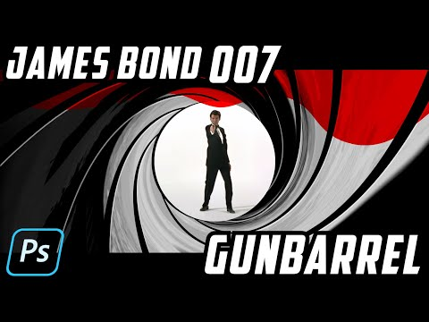 Photoshop How To Create The Iconic James Bond 007 Gunbarrel Youtube Photoshop James Bond Bond