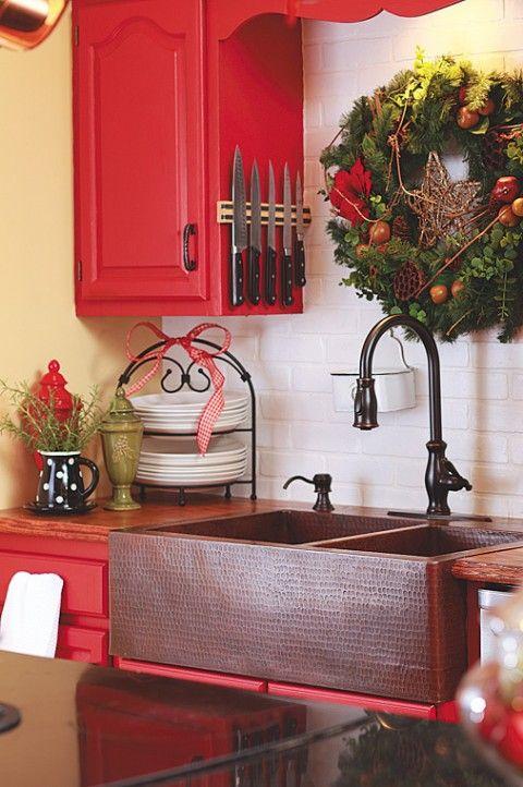 La decoracion navideña en la cocina-06 Decoración buenas ideas