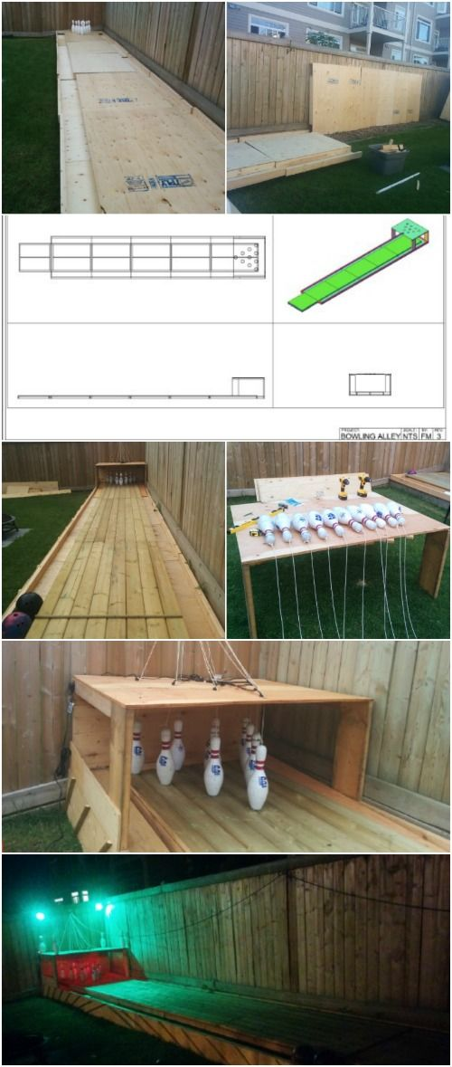 Fun Summer Project How To Build Your Own Backyard Bowling Alley Backyard Diy Projects Diy Bowling Backyard Projects