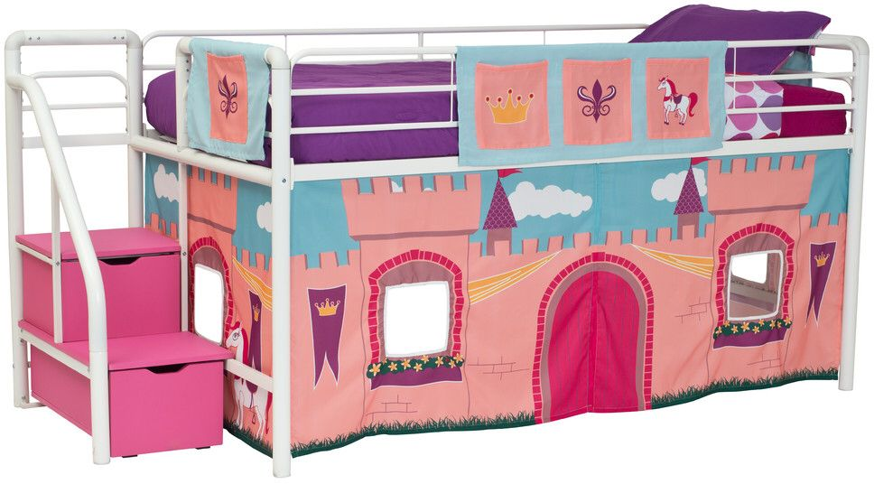 Dhp Princess Castle Curtain Set For Junior Loft Bed Bed Curtains