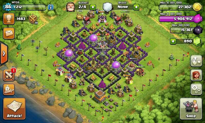 Near max th 8 b clash of clans clash of clans game