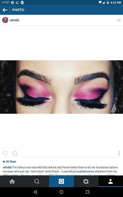 Pinks, purples,corals & black.