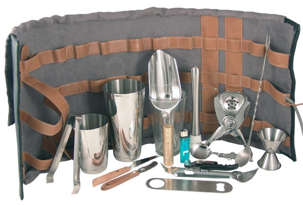 Look Like A True Professional With Our Tool Roll Bartender Kit Cool And Clever Way To Tote Your Bartending Gear From One Gig The Next