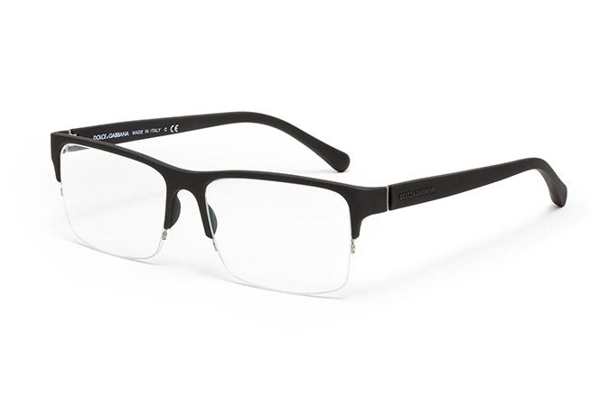2df33becc6 men s black injected rubber eyeglasses with geometric frame by Dolce    Gabbana dg-1236