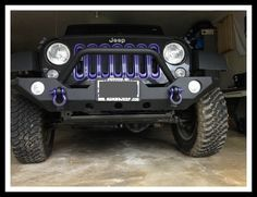 Purple D Rings and throat rings - black Jeep | donatello | Pinterest