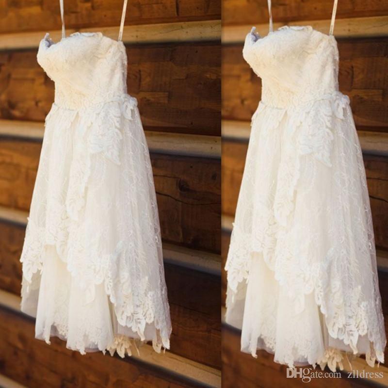 High Low White/lvory Mermaid Bridal Gown Wedding Dress