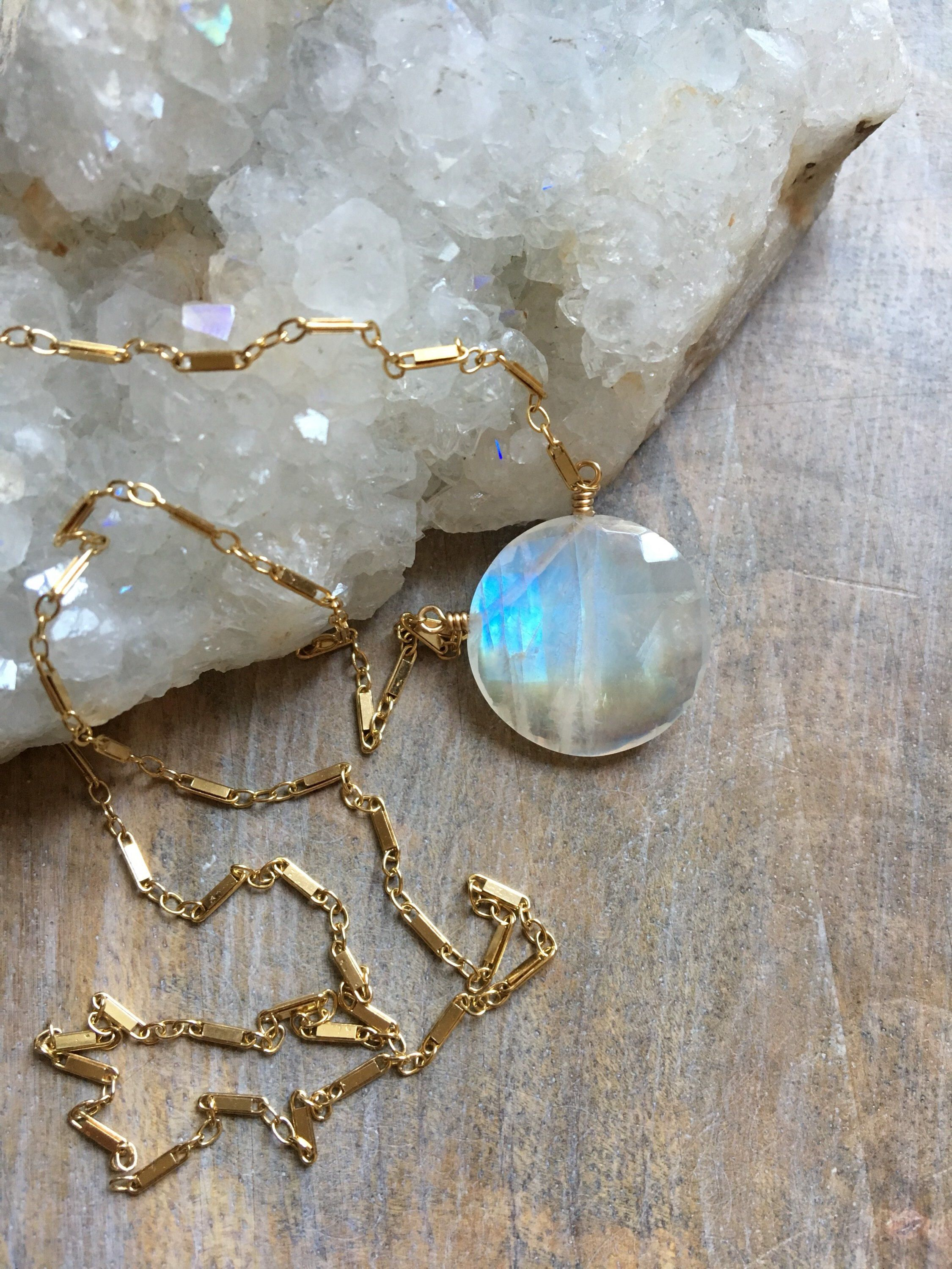 gold listing w pendant il moonstone jewelry necklace fill stone fullxfull moon wrapped ikhm rainbow