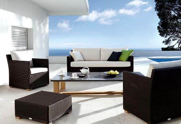 Contemporary Outdoor Furniture New York NY Manutti Wicker