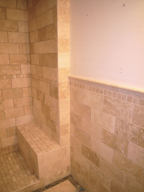 Travertine Master Bath Shower Surround Shower Tile Shower Doors