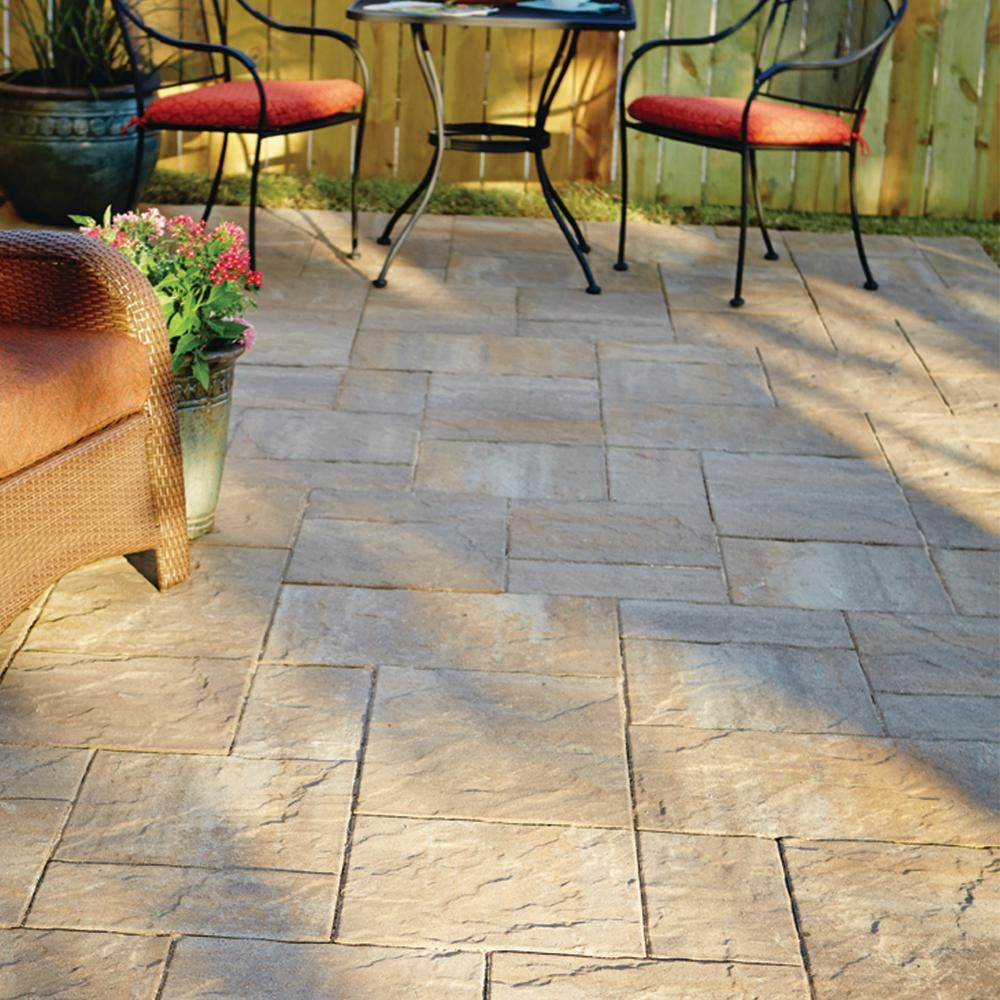 a3b9f187cb4d Pavestone Panorama Supra 10 ft. x 10 ft. Antique Pewter Concrete  Patio-on-a-Pallet (60-Pieces 98 sq. ft. Pallet)