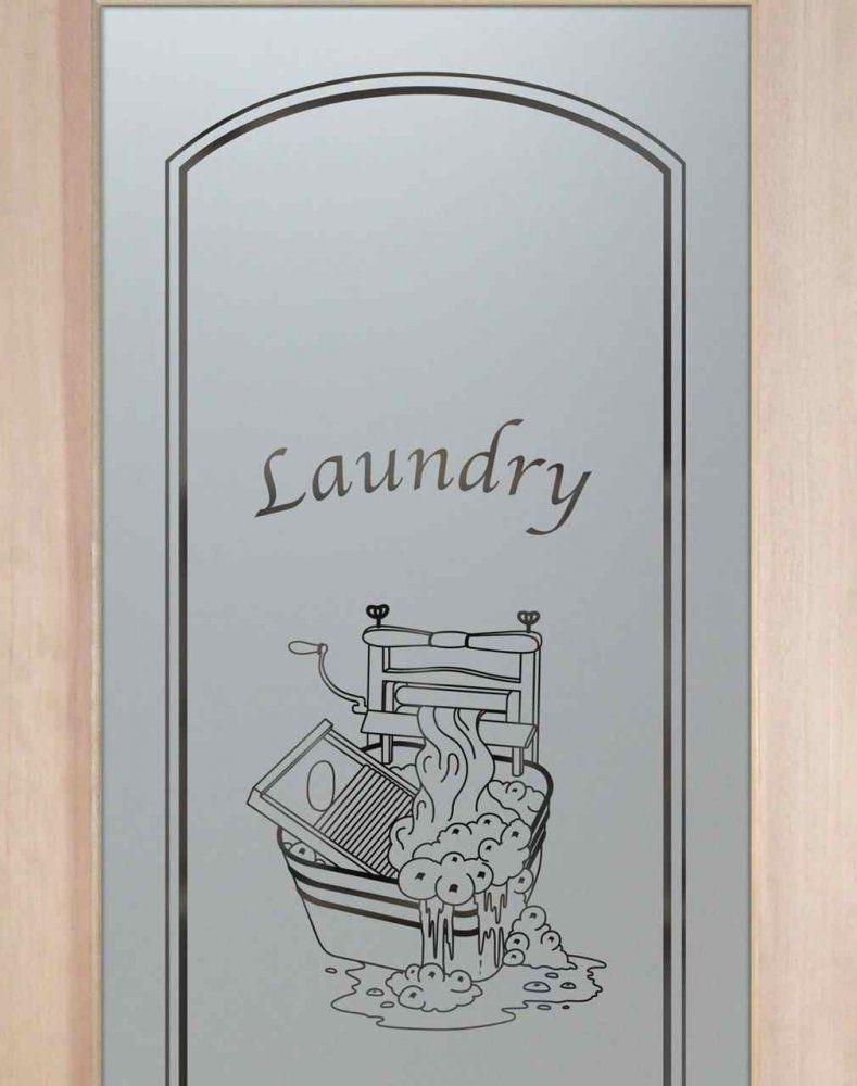 Thru the wringer solid frost glass laundry room door by sans soucie wringer laundry room doors with etched glass design your glass laundry room door planetlyrics Images