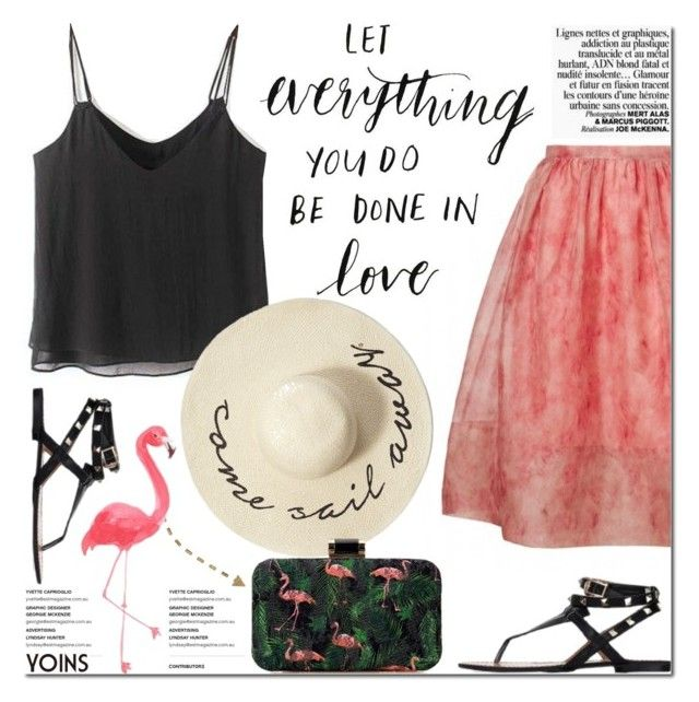 """Flamingo"" by purpleagony ❤ liked on Polyvore featuring Abercrombie & Fitch, Summer, Spring, tropical and yoins"