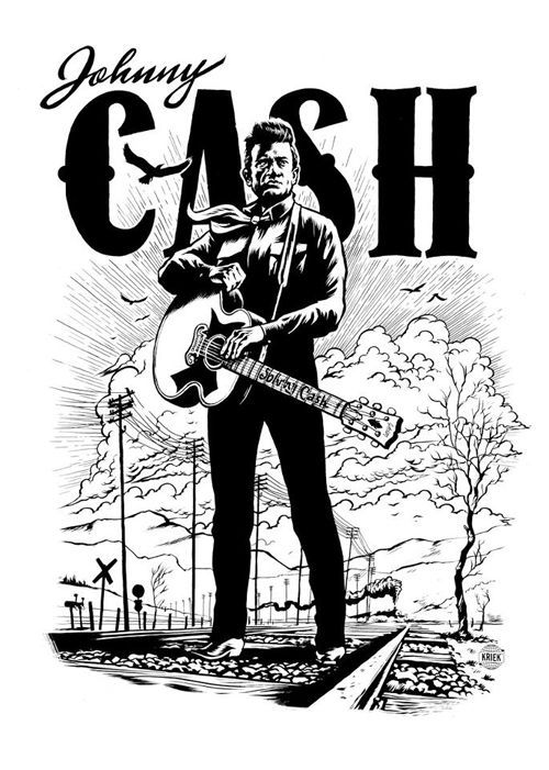 Johnny Cash Black And White Ink Art Johnny Cash Poster Johnny Cash Art Country Old Johnny Cash Art Johnny Cash Tattoo Johnny Cash