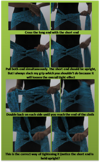 traditional belly-binding for helping abdominal muscles heal back together postpartum!