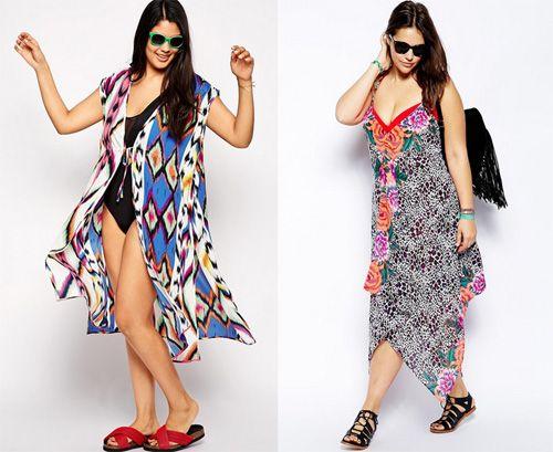 Asos Plus Size Swimwear Summer 2015: beach playsuit, shorts ...