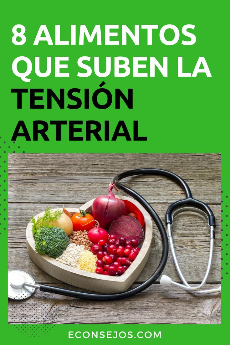 Frutas y vegetales que suben la presion arterial