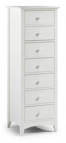 Julian Bowen Cameo Stone White 7 Drawer Narrow Chest In 2019 Narrow Chest Of Drawers Tall Narrow Dresser White Chest Of Drawers