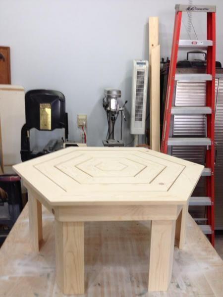 Diy Furniture Diy Hexagon Coffee Table For The Patio Hexagon