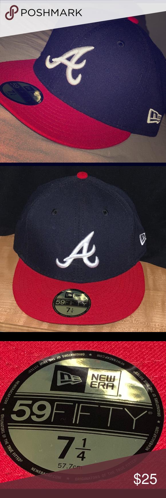 New Era Authentic Atlanta Braves Baseball Cap Brand New Visor Sticker Still Attached Smoke Free Household New Atlanta Braves Baseball New Era Atlanta Braves
