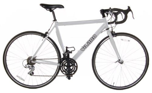 Vilano Aluminum Road Bike 21 Speed Shimano, White, 58cm Large.    List Price:$500.00  Buy New:$259.00  You Save:48%  Deal by: CyclingShoppers.com