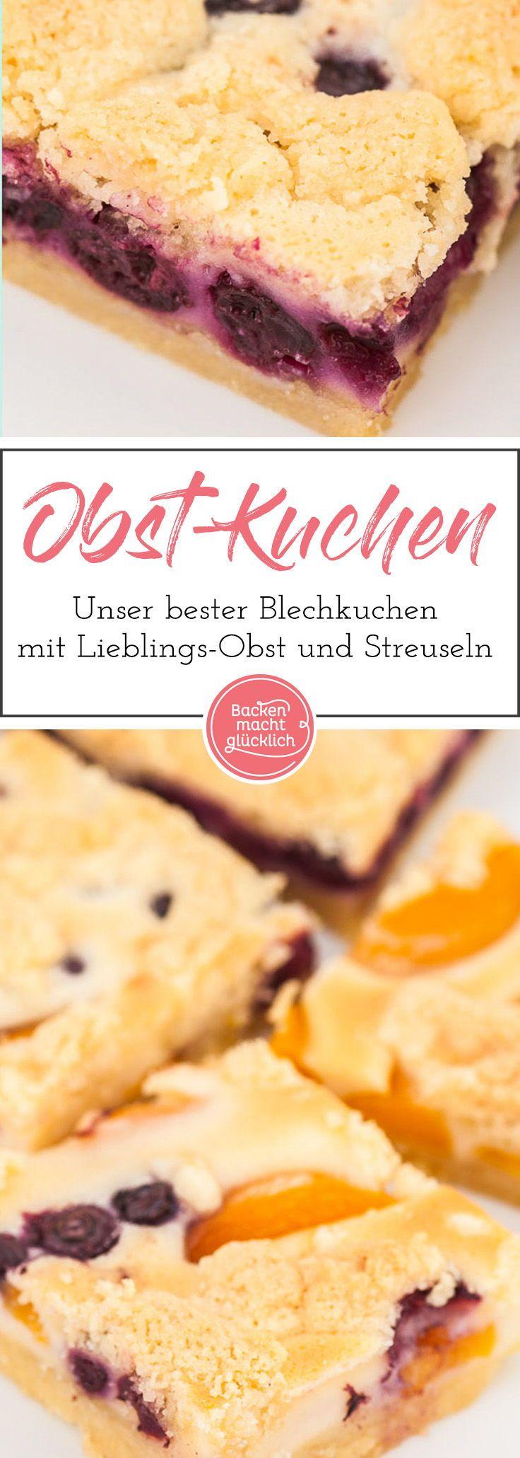 Saftiger Obstkuchen mit Streuseln | Recipe | Backen ...