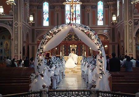 Elegant Church Wedding Decoration Ideas | wedding, the first ...