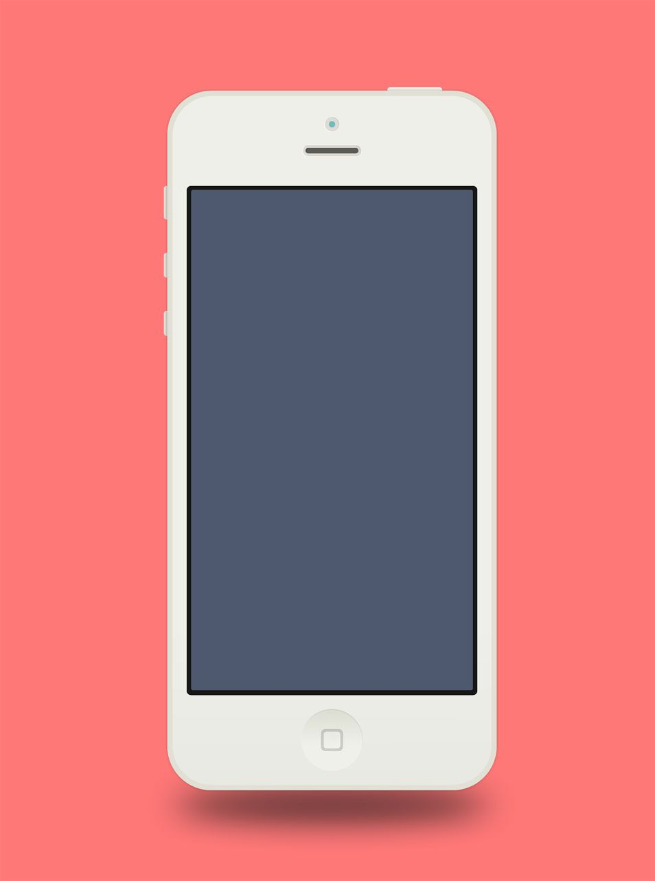 flat iphone 5 adobe fireworks template | make | pinterest | mockup, Presentation templates
