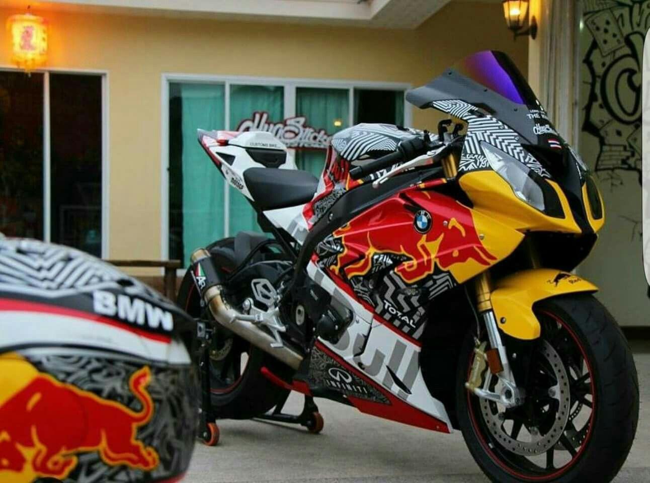 BMW Srr Sticker Job Redbull Motorcycle Pinterest Bmw - Red bull motorcycle custom stickers