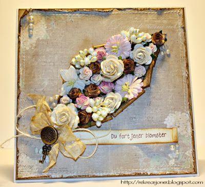 {Re}kreasjoner: Flower card. Maja Design papers.