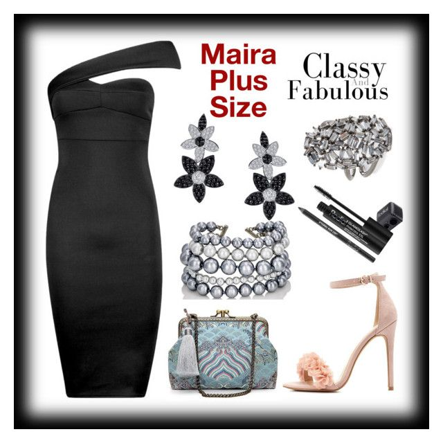 """Maira's Classic Look"" by mairaplussize ❤ liked on Polyvore featuring Boohoo, Charlotte Russe, Kenneth Jay Lane, Lafonn, Theia Jewelry and Rodial"
