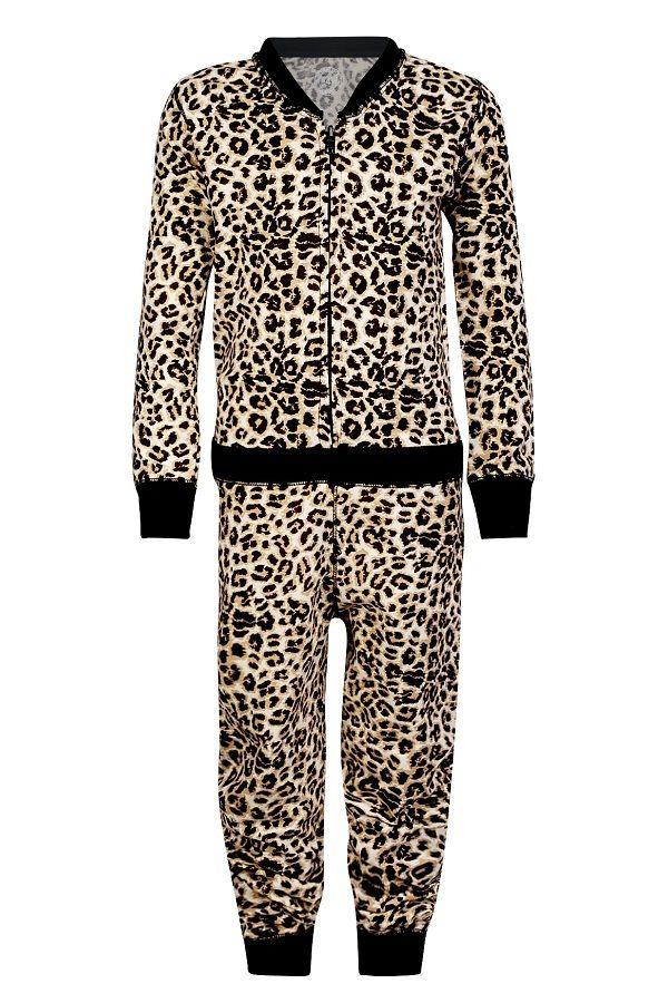 769b6991e3b Claesen's pyjama onesie voor meisjes Brown Panter, bruin ...