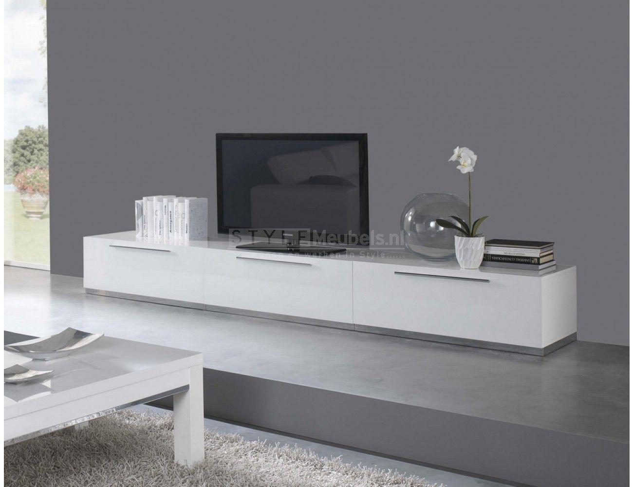 Mooie Witte Tv Kast.Tv Meubel Carmen 300cm Hoogglans Wit Meubels Ideeen Voor