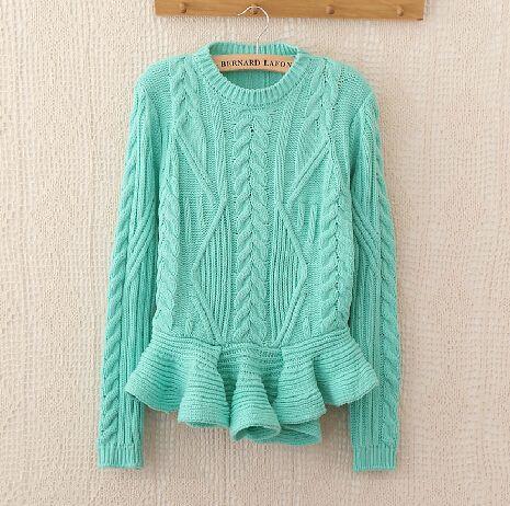 Retro flouncing knit sweater AD101321JL