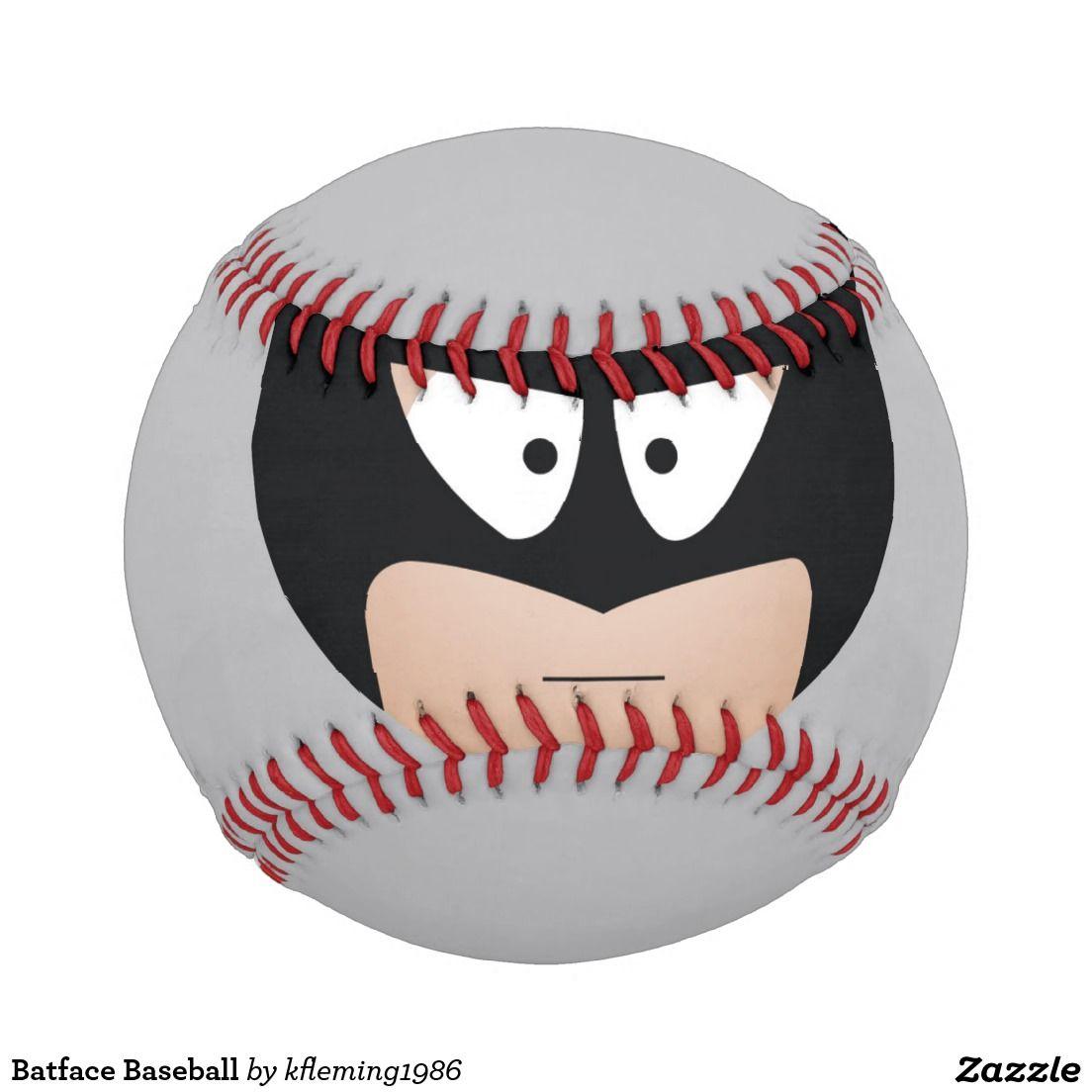 Batface Baseball | Zazzle.com | Baseball, Baseballs ...